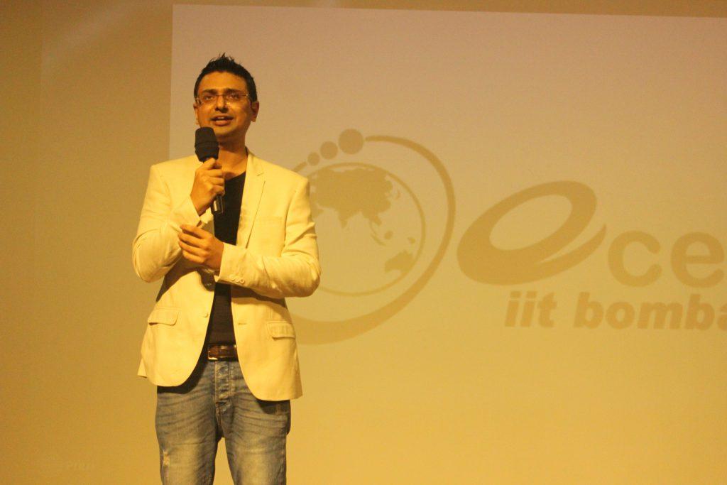 Vishwas Mudagal Speaking at IIT Bombay