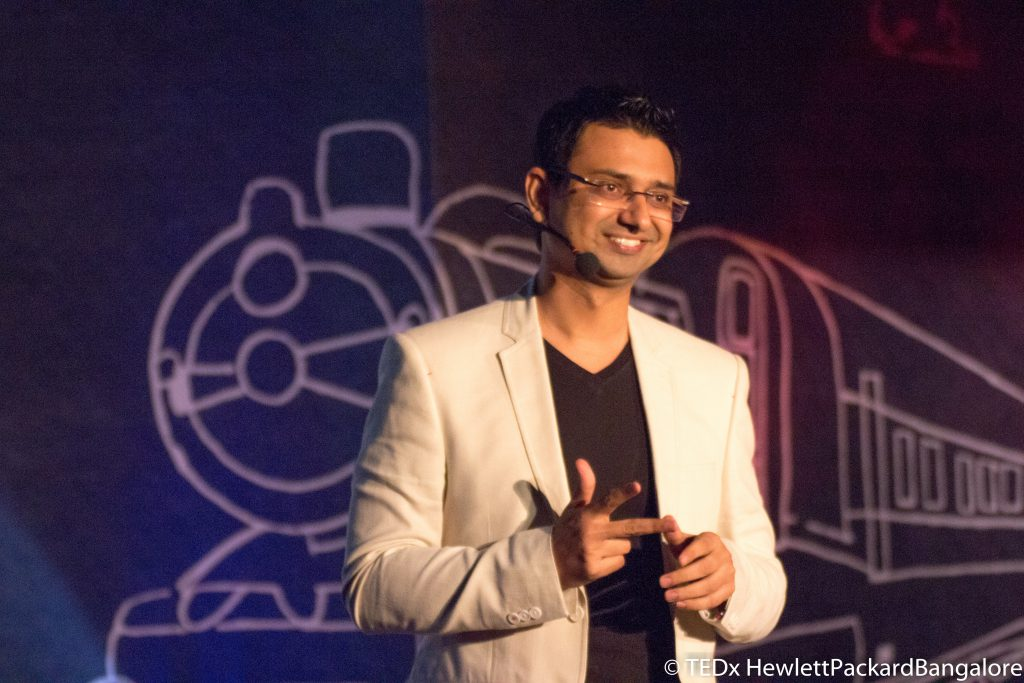 Vishwas Mudagal at Tedx Talk HP 3