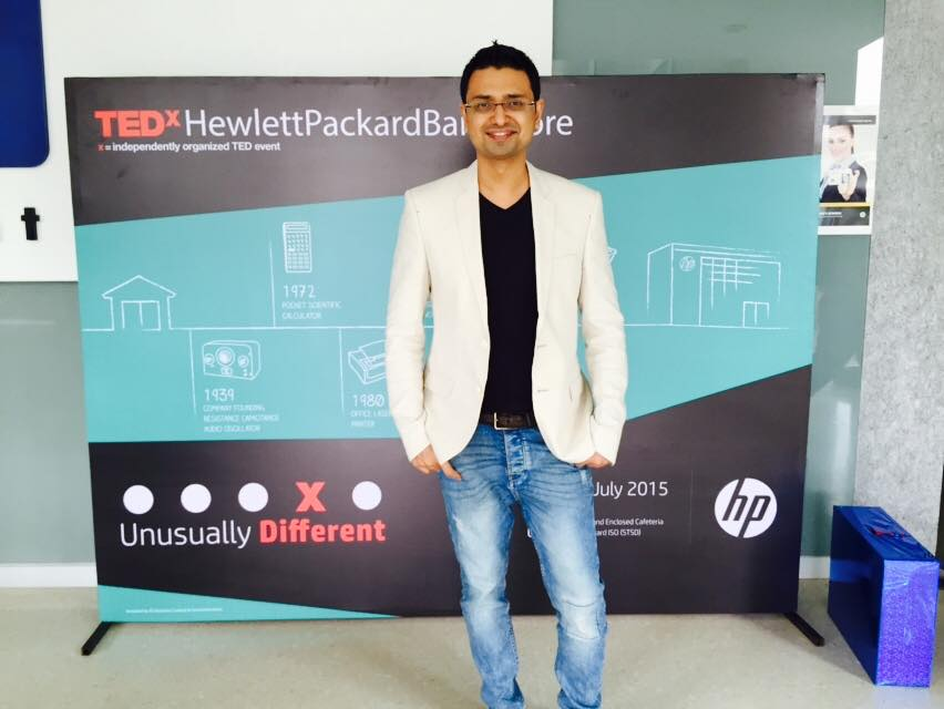 Vishwas Mudagal speaker at TEDx HP Event