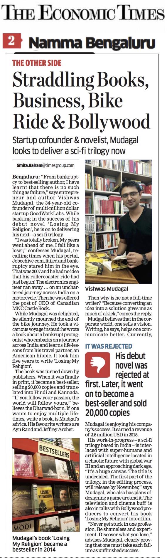 economic-times-vishwasmudagal-best-selling-author-2016