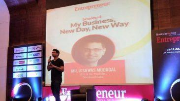 Vishwas Mudagal at the Entrepreneur India Event