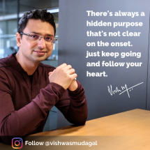 Motivational quote by Vishwas Mudagal