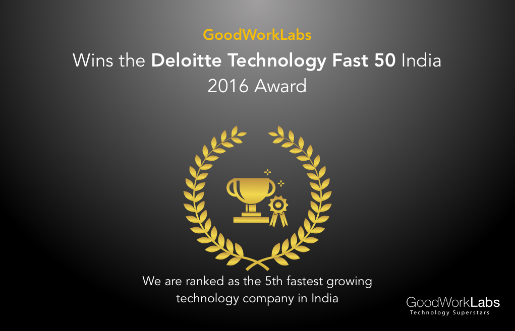 GoodWorkLabs wins deloitte fast 50 award