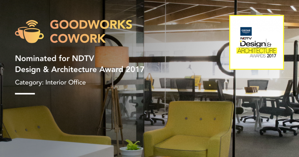 NDTV award - goodworks cowork