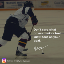 Focus on your goals - vishwas mudagal motivational quotes