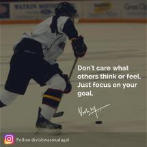 Focus on your goals - vishwas mudagal motivational quotes