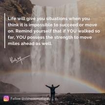 Keep moving forward - vishwas mudagal quotes